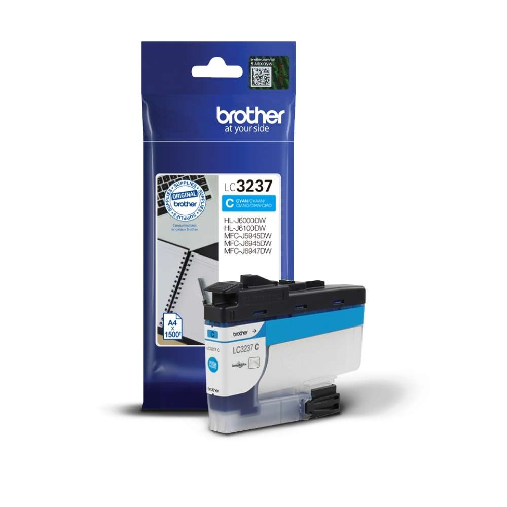 Консуматив Brother LC-3237 Cyan Ink Cartridge LC3237C