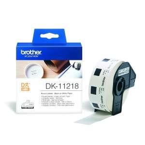 "Консуматив Brother DK-11218 Round Paper 1"" label 24mm x 24mm x 1000 (Black on White)"