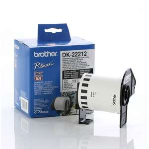 Консуматив Brother DK-22212 White Continuous Length Film Tape 62mm x 15.24m