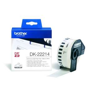 Консуматив Brother DK-22214 White Continuous Length Paper Tape 12mm x 30.48m