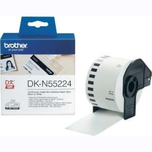 Консуматив Brother DK-N55224 Roll White Continuous Length Non-Adhesive Paper Tape 54mmx30.48M (Black on White)