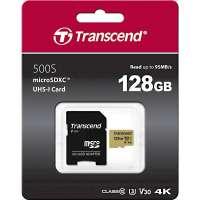 Памет Transcend 128GB microSD UHS-I U3 (with adapter) TS128GUSD500S