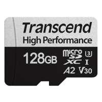 Памет Transcend 128GB microSD with adapter UHS-I U3 A2 TS128GUSD330S