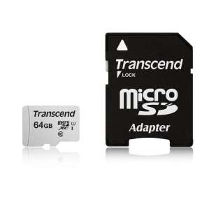 Памет Transcend 64GB UHS-I U1 microSD with Adapter
