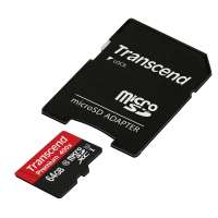 Памет Transcend 64GB micro SDXC UHS-I Premium (with adapter TS64GUSDU1
