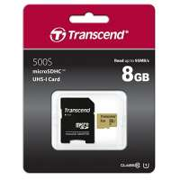 Памет Transcend 8GB microSD UHS-I U3 (with adapter) TS8GUSD500S