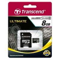 Памет Transcend 8GB microSDHC (1 adapter - Class 10) TS8GUSDHC10