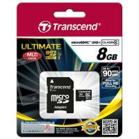 Памет Transcend 8GB microSDHC UHS-I (with adapter TS8GUSDHC10U1