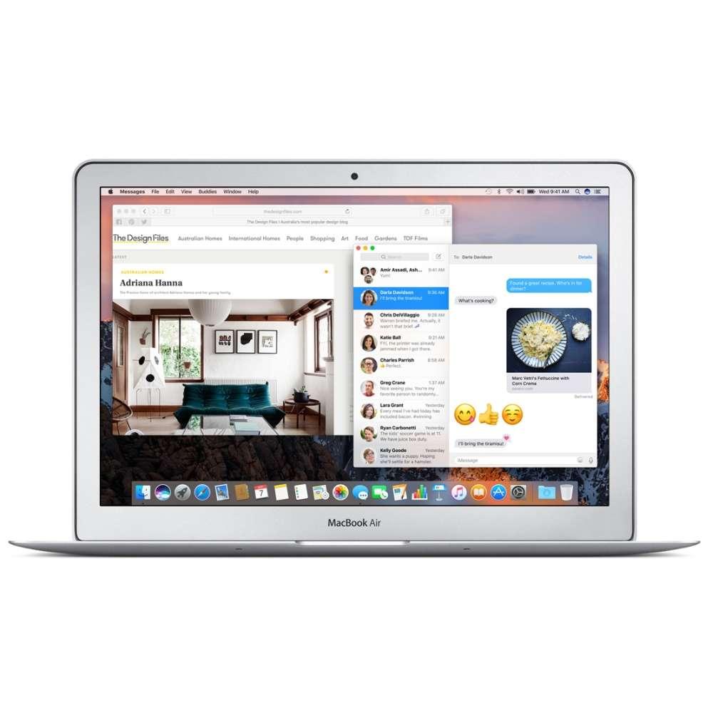 Лаптоп Apple MacBook Air 13 i5 DC 1.8GHz/8GB/128GB SSD/Intel HD Graphics 6000 INT KB MQD32ZE/A