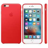 Калъф Apple iPhone 6s Plus Leather Case - (PRODUCT)RED MKXG2ZM/A