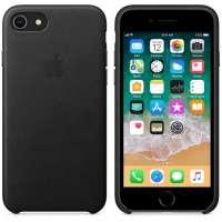 Калъф Apple iPhone 8/7 Leather Case - Black MQH92ZM/A
