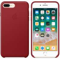 Калъф Apple iPhone 8 Plus/7 Plus Leather Case - (PRODUCT)RED MQHN2ZM/A