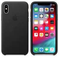 Калъф Apple iPhone XS Leather Case - Black MRWM2ZM/A