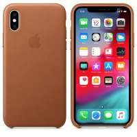 Калъф Apple iPhone XS Leather Case - Saddle Brown MRWP2ZM/A