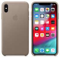 Калъф Apple iPhone XS Max Leather Case - Taupe MRWR2ZM/A