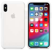 Калъф Apple iPhone XS Silicone Case - White MRW82ZM/A
