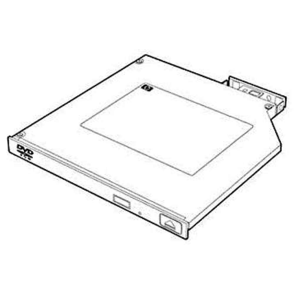 Оптично устройство HP 9.5mm SATA DVD-ROM JackBlack Gen9 Optical Drive 726536-B21