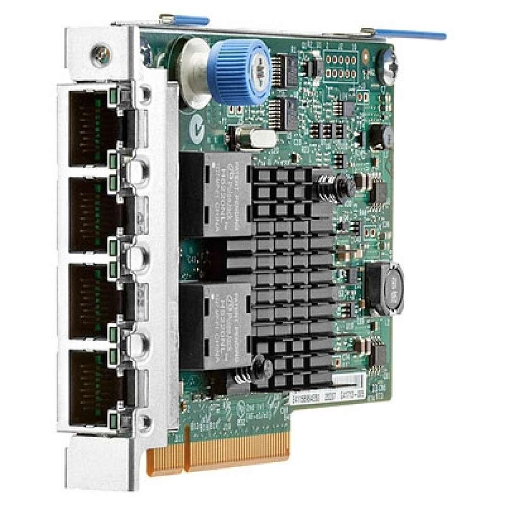 Адаптер HP Ethernet 1Gb 4-port 366FLR Adapter 665240-B21