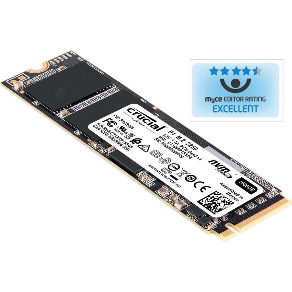 Твърд диск Crucial SSD P1 500GB P1 M.2 NVMe PCIe 3.0 x 4 CT500P1SSD8