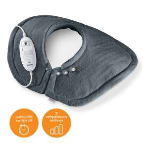 Термоподложка Beurer HK 54 Cosy Shoulder & Neck Heat Pad; 3 temperature settings; auto switch-off after 90 min; washable on 30°; removable switch; fleece fibre;56(L)x52(W) cm