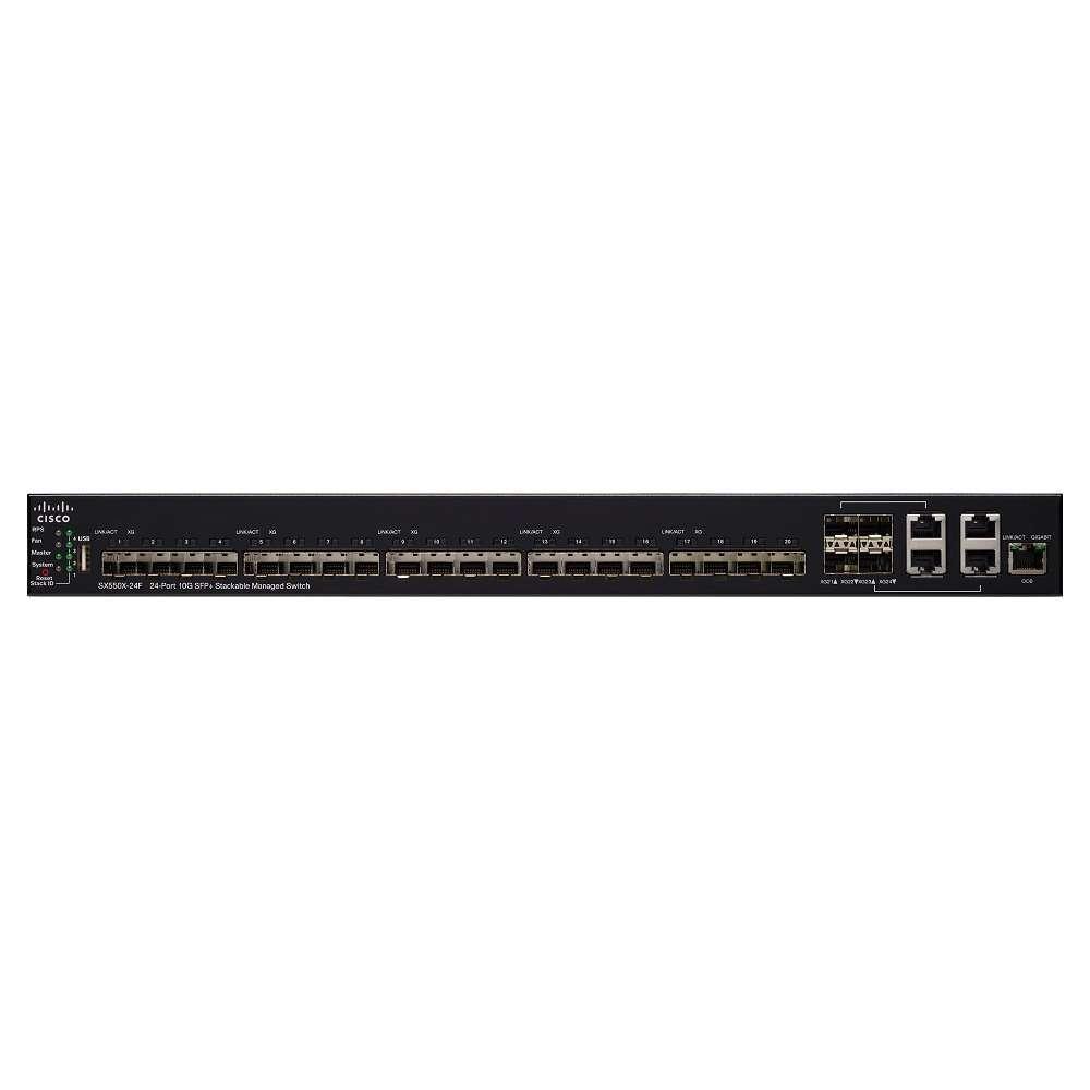 Комутатор Cisco SX550X-24F 24-Port 10G SFP+ Stackable Managed Switch SX550X-24F-K9-EU