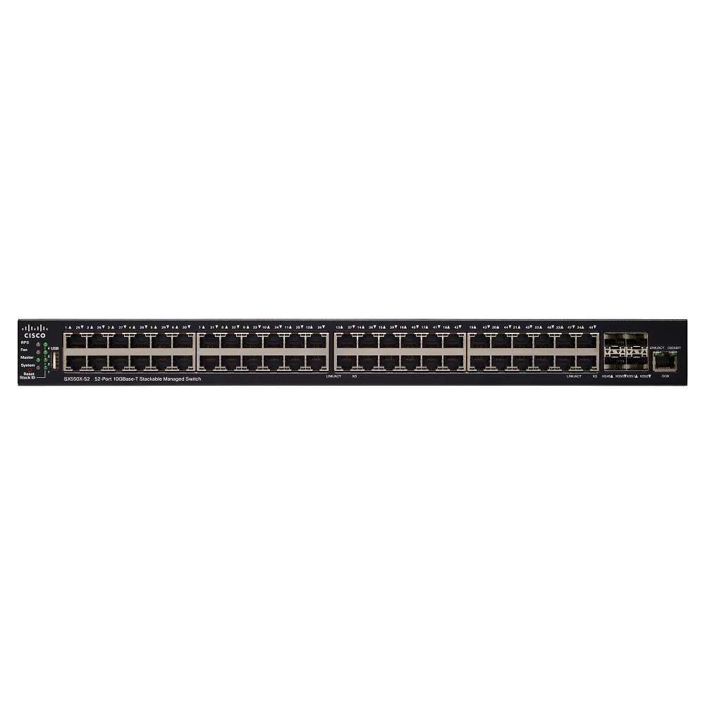 Комутатор Cisco SX550X-52 52-Port 10GBase-T Stackable Managed Switch SX550X-52-K9-EU
