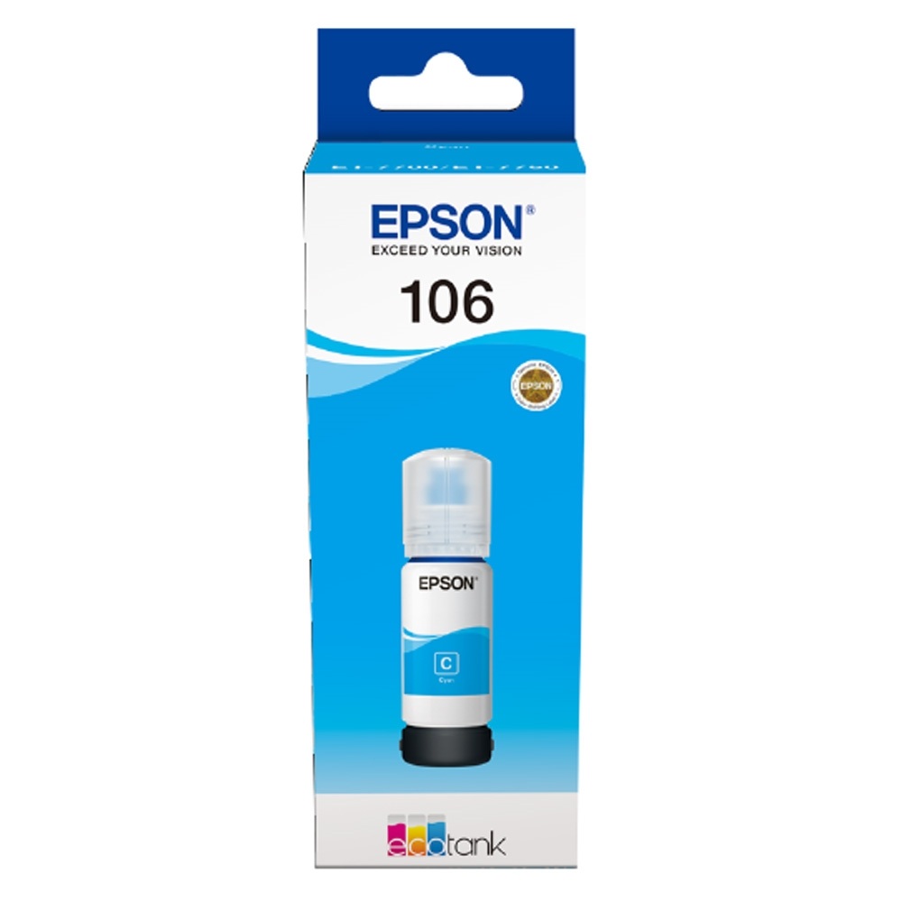 Консуматив Epson 106 EcoTank Cyan ink bottle C13T00R240