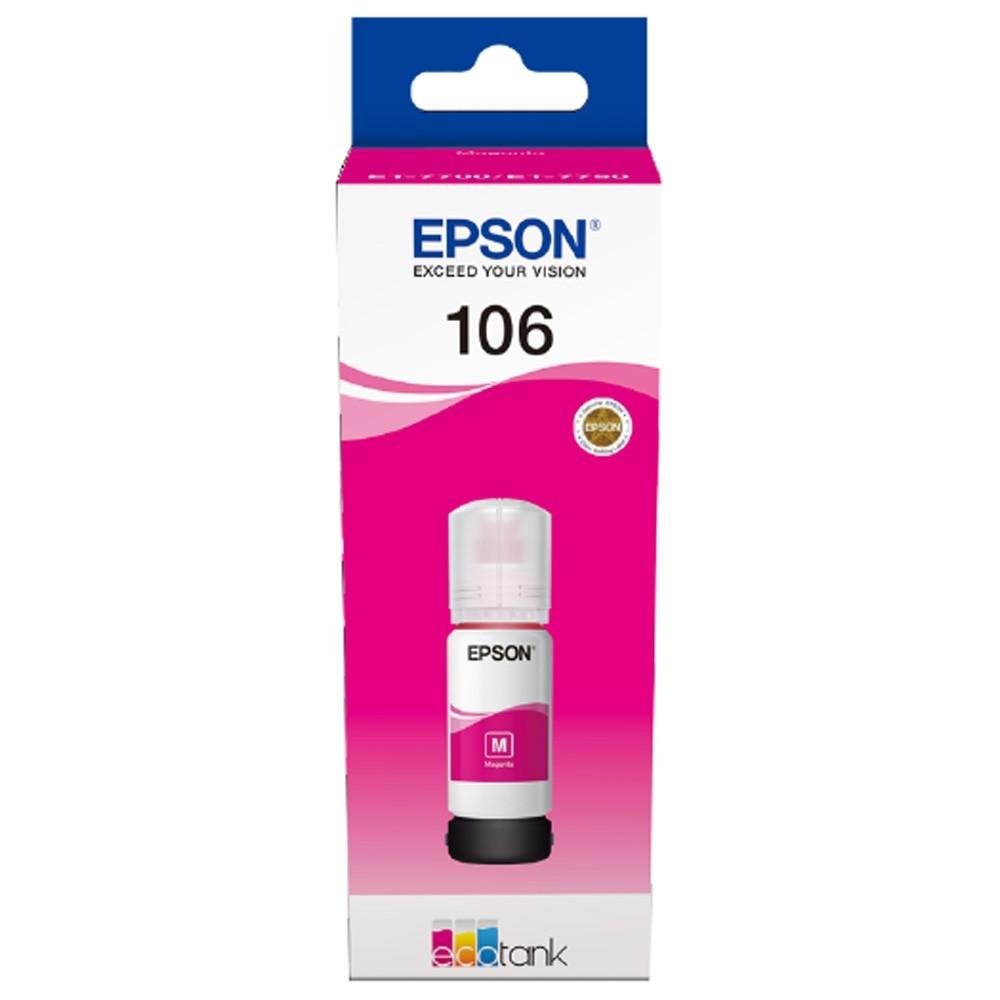 Консуматив Epson 106 EcoTank Magenta ink bottle C13T00R340
