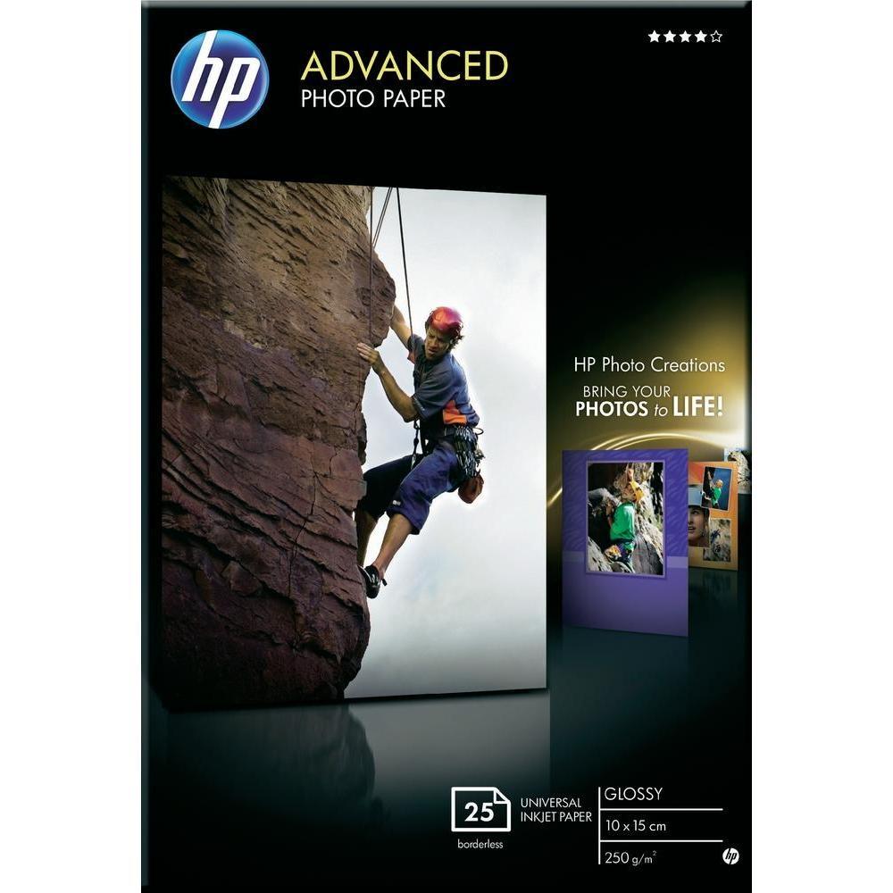 Хартия HP Advanced Glossy Photo Paper-25 sht/10 x 15 cm borderless Q8691A