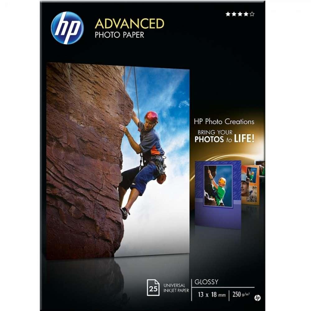 Хартия HP Advanced Glossy Photo Paper-25 sht/13 x 18 cm borderless Q8696A