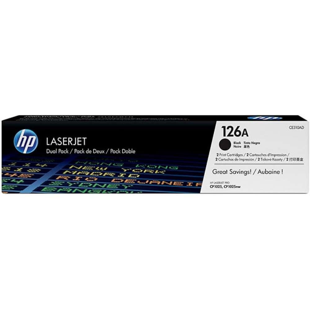 Консуматив HP 126A Black Dual Pack LaserJet Toner Cartridges CE310AD