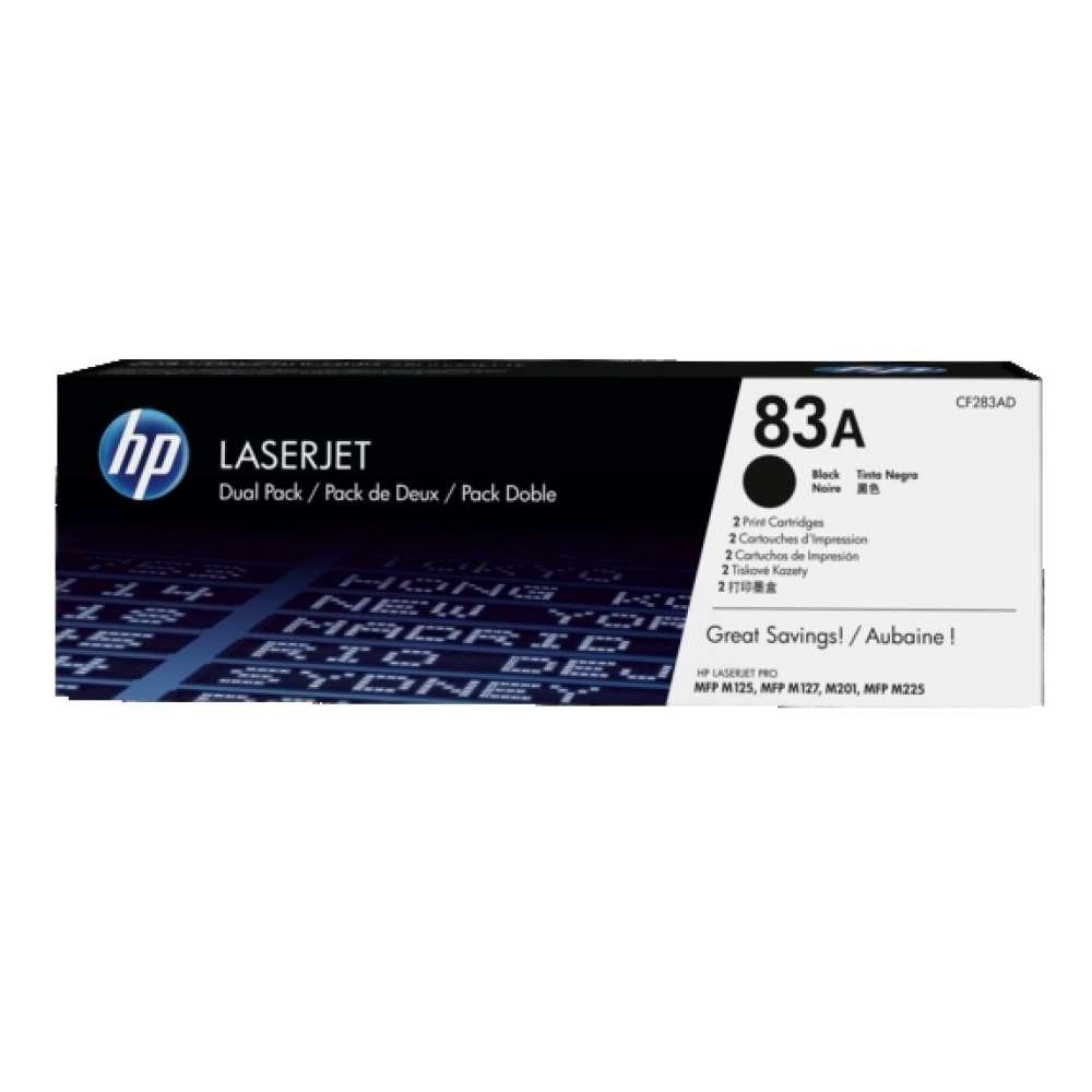 Консуматив HP 83A 2-pack Black Original LaserJet Toner Cartridge (CF283AD) CF283AD