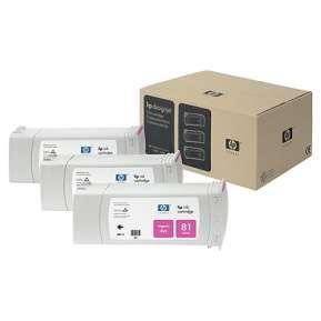 Консуматив HP 81 3-pack 680-ml Magenta Dye Cartridges