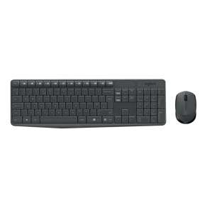 Комплект Logitech MK235 Wireless Keyboard and Mouse Combo - Grey - US INTL