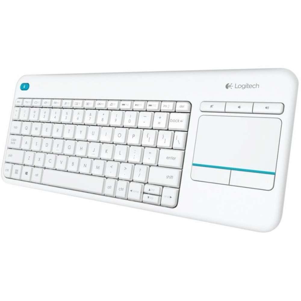 Клавиатура Logitech Wireless Touch Keyboard K400 Plus White 920-007146