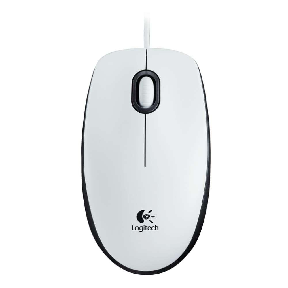 Мишка Logitech Mouse M100 White 910-005004