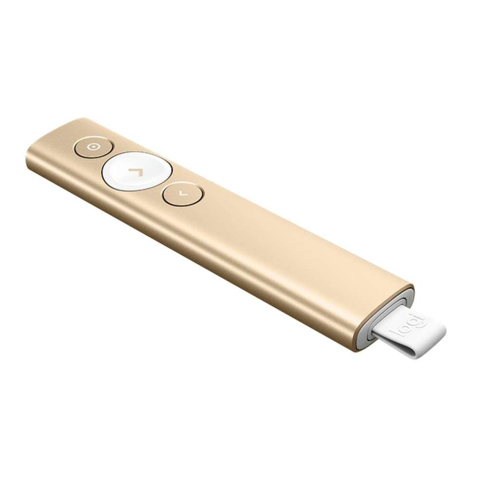 Безжичен презентер Logitech Spotlight Presentation Remote - Gold 910-004862