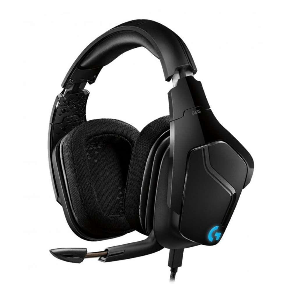 Слушалки Logitech G635 7.1 Lightsync Gaming Headset 981-000750