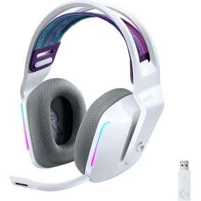 Слушалки Logitech G733 LIGHTSPEED Wireless RGB Gaming Headset - WHITE - 2.4GHZ - N/A - EMEA