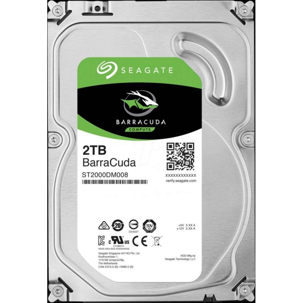 Твърд диск Seagate BarraCuda 2TB 7200rpm 256MB SATA3 3 ST2000DM008