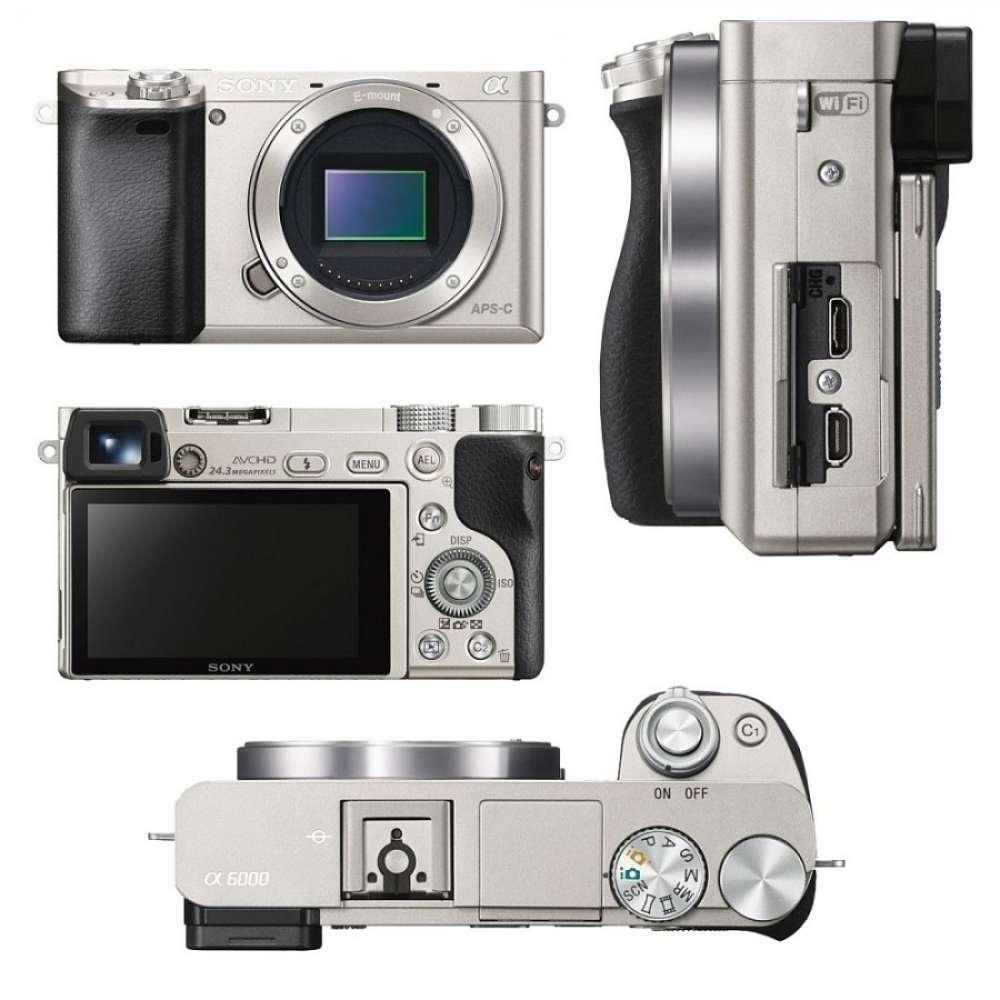 Цифров фотоапарат Sony Exmor APS HD ILCE-6000 silver ILCE6000S.CEC